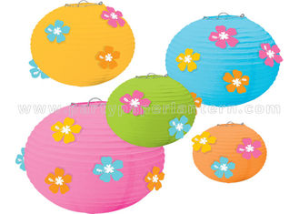 China Flower Designs Paper Craft Lanterns Party Decorations Colorful  DIY Kits Cute supplier