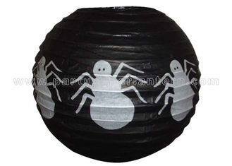 China Spider Patterned Printed Round Paper Lanterns supplier