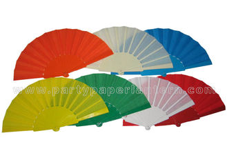 China Plain Color Spainish Fabric Hand Fans supplier