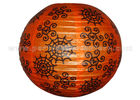Spider Web Patterned Printed Round Paper Lanterns For Party , Halloween Decoration Entertaining