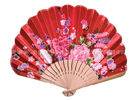 China Foldable Lovely Japanese Hand Held Fans , personalized red paper fans factory