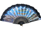 China Costom Printed Lace Hand Fans for Wedding with Scenic Spot  Design factory