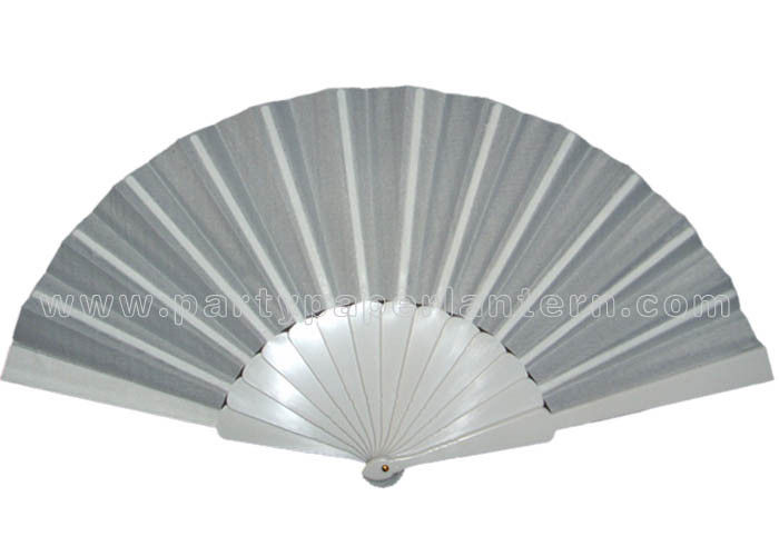 Plain Color Spainish Fabric Hand Fans