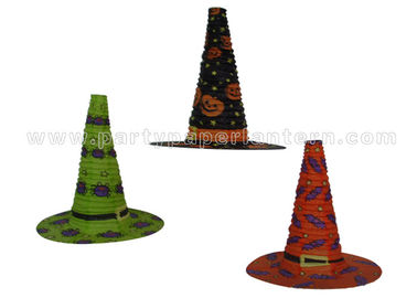 China Funny Customized Colorful Unique Shaped Paper Lanterns For Halloween Witch Hat distributor