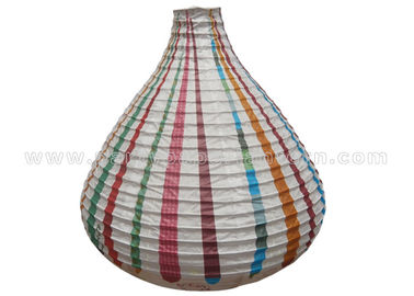China Unique Shaped Rice Paper Lamp with Circus Printing , Wedding Paper Lanterns distributor