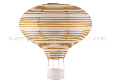 China Golden Printing Unique Shaped Paper Lanterns Luxury for table decorations distributor