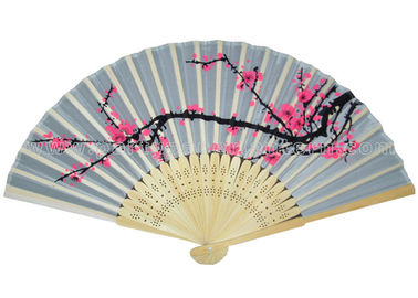 China Variety Colors Japanese Hand Held Fans For Promotion , Gift , Souvenir Traditional distributor