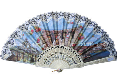 China Folk Style Lace Hand Fans Traditional distributor