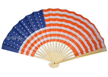China Flag , Logo , Smiling Face custom printed paper fans / party paper fans distributor