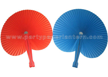 China Round Paper Folding Fans , Beautiful Hand Held Accordion Paper Fans Party Favor distributor