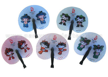 China Cartoon Style Printed Accordion Paper Folding Fan For Promotion , Gifts , Souvenir Cute distributor