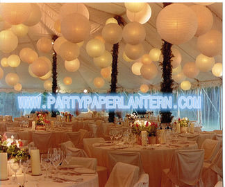 China Different Shaped Decorating Wedding Paper Lanterns With Soft Colors , Size Customized distributor