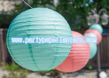 China Customized Blue Pink Party Paper Lantern For Outside Decoration Attractive distributor